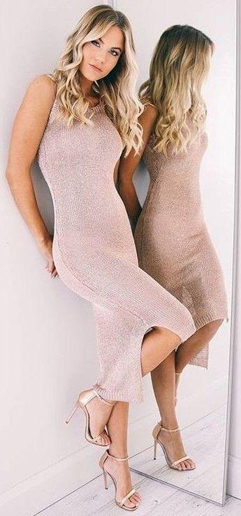 Sparkling Blush Maxi Dress                                                                             Source
