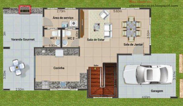 Plano de casa de dos plantas planos de casas pinterest for Casa de dos plantas wifi
