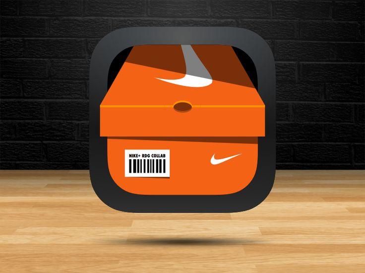 Nike Shoebox App Icon - by Ray de Guzman   #ui