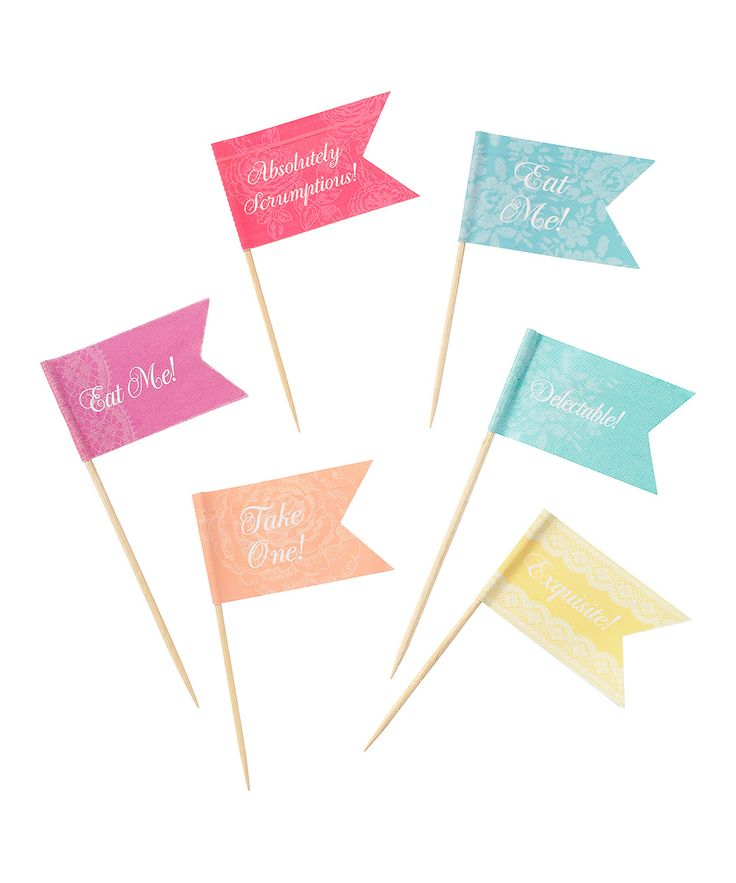 Colorful Canapé Flag - Set of 40 | Daily deals for moms, babies and kids