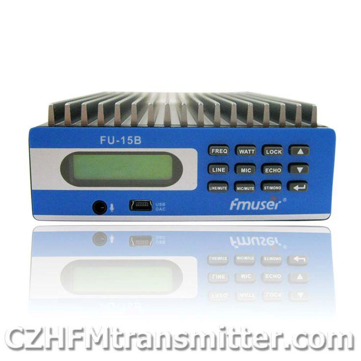 FMUSER FU-15B 0 W-15 W PREMIUM penutup Profesional PC Kontrol FM Transmitter 3 m-15 km DHL EMS gratis pengiriman
