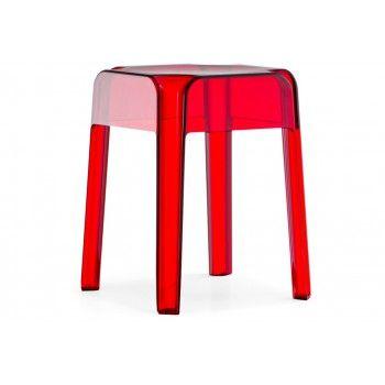 Stołki RUBIK 583 - komplet. Wykonane w całości z poliwęglanu. #pedrali #stolki #design #meble #nowoczesnemeble #goodform