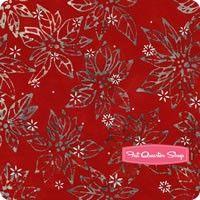 Snowflakes Artisan Batiks Silver Poinsettias Yardage <br/>SKU