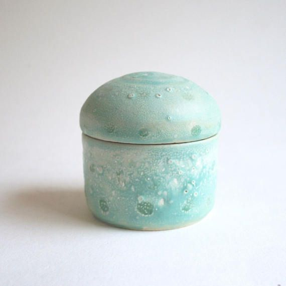 Sea Thing Urn  small urn keepsake cremation green pet urn