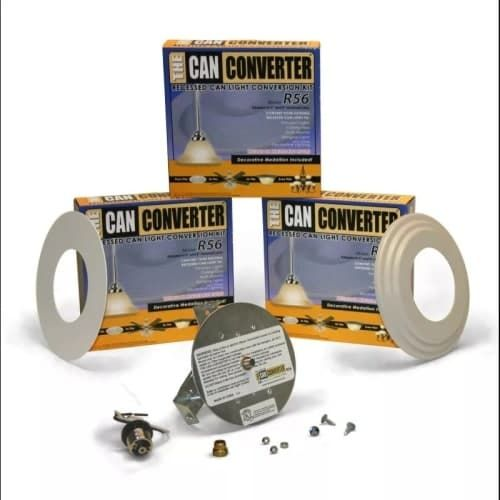 "Woodbridge Lighting R56-Whtfb The Can Converter R56 Recessed Can Light Conversion Kit for 5"" and 6"" Recessed Cans, White"