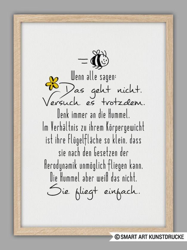 """Originaldruck - """"GEHT NICHT GIBT´S NICHT!"""" Kunstdruck - ein Designerstück von Smart-Art-Kunstdrucke bei DaWanda"""