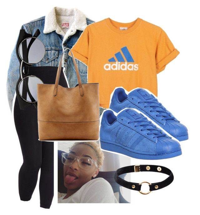 """""""Untitled #120"""" by trillqueen34 ❤ liked on Polyvore featuring Levi's, adidas, Retrò, Sole Society, Nika and plus size clothing"""