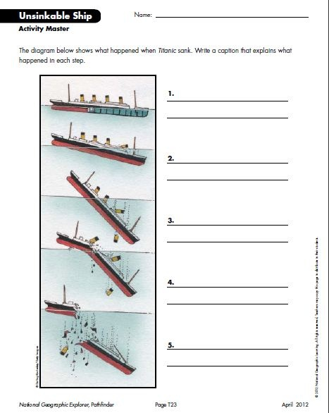 National Geographic Coloring Pages Pdf : Best images about titanic for kids educational