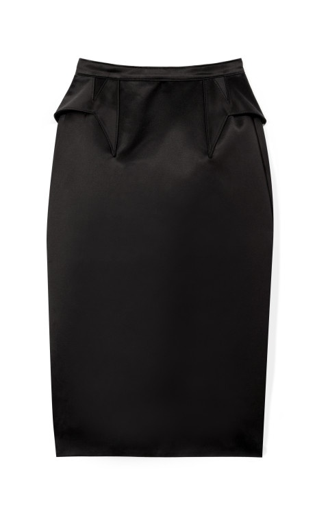Satin Duchesse Pencil Skirt With Back Ruffle by Givenchy Now Available on Moda Operandi