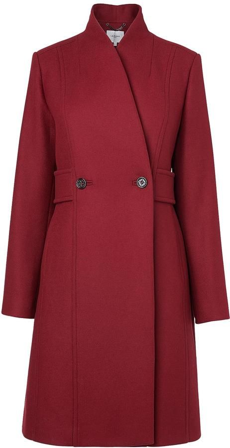 LK Bennett Bette Double Breasted Peacoat