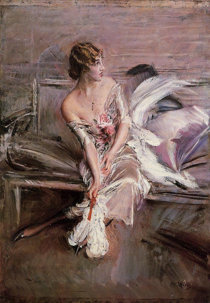Giovanni Boldini (1842-1931) Portrait of Gladys Deacon Oil on canvas c1905-c1908