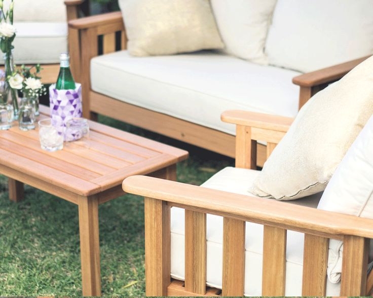 Fechters Morris Wooden 4 piece outdoor furniture set South Africa