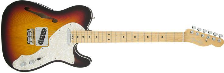 Fender American Elite Telecaster® Thinline, Maple Fingerboard, 3-Color Sunburst