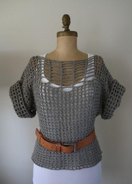 Categoría - Hermosa: Suéter verano ... Crochet DIY