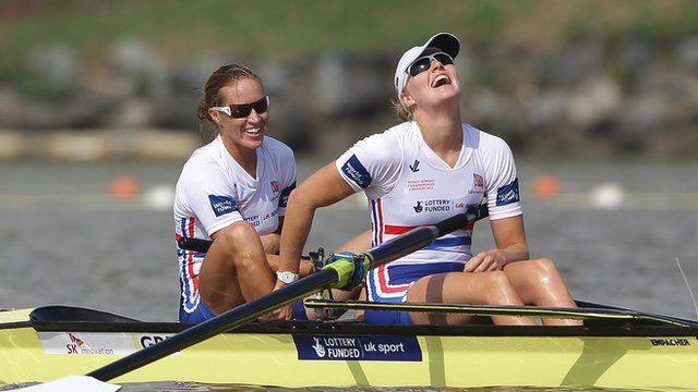Helen Glover and Polly Swann won gold for Great Britain in the women's pair at the Rowing World Championships in Chungju, South Korea.