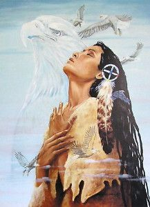 Native American Indian Art Prints | Native-American-Indian-Woman-Eagle-Prayer-art-print-Medicine-Wheel ...