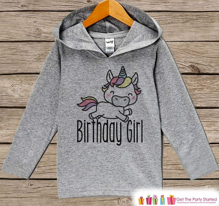 Girls Birthday Shirt - Unicorn Birthday Girl Hoodie - Girls Birthday Pullover - Happy Birthday - Girls Hoodie - Birthday Shirt for Girls