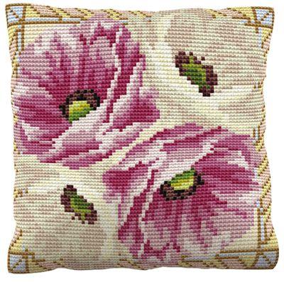 Leighton Printed Cross Stitch Cushion Front Kit from Brigantia Needlework