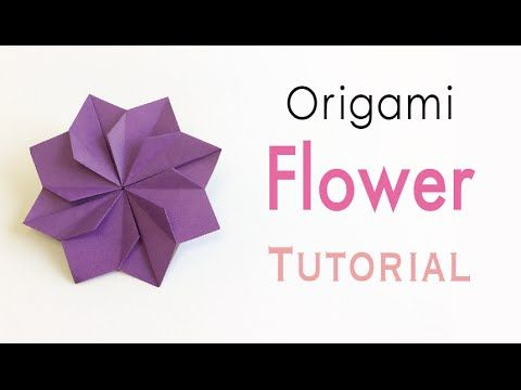 Origami Paper Double Square Flower - Origami Kawaii〔#157〕 - YouTube