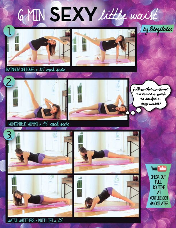 6 Min Sexy Little Waist Printable - Blogilates: Fitness, Food, and lots of #Pilates