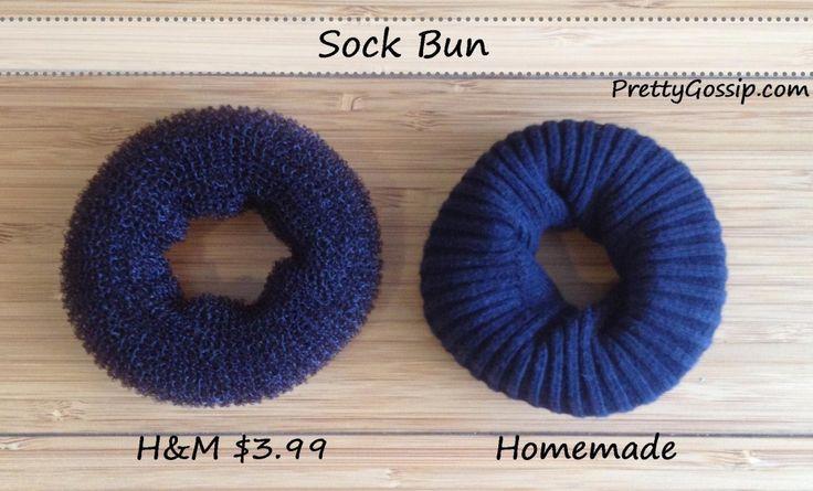 Hair DIY :: Sock Bun Donut on http://prettygossip.com/2012/07/31/how-to-make-a-sock-bun/