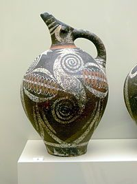 cerâmica do estilo Camares. Arte Minoica, protopalaciana.