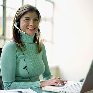If you are a good communicator     Many businesses, such as JetBlue Airways, recruit hires from staffing companies to work from home as customer-service agents. You can often make your own schedule, working when it's convenient for you.    Check out these following sites for more information:      Arise Virtual Solutions  Working Solutions  Alpine Access  ACD Direct  Live Ops