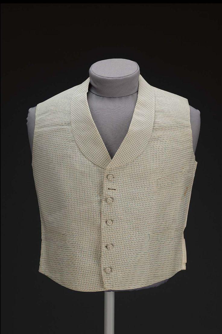 19th century, America - Man's waistcoat