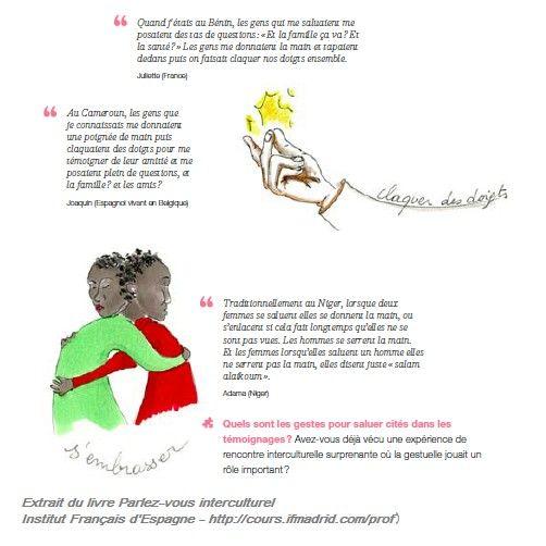 """Claquer des doigts Extrait du livre """"Parlez-vous interculturel"""" (Institut Frnaçais d'Espagne - http://cours.ifmadrid.com/prof)"""