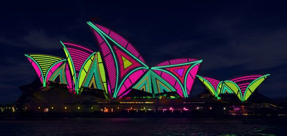 Head to Sydney's Playground of Lights (Sydney Harbour Foreshore) for a stunning display of light projections & sculptures at various iconic venues! From 24th of May to 10th of June 2013.