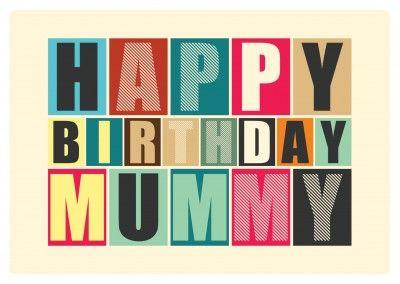 happy birthday mummy postkarte grusskarte