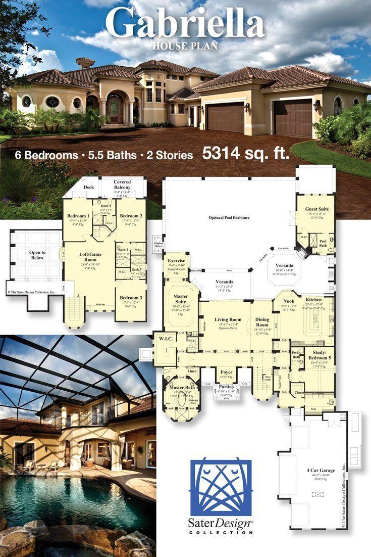 Mediterranean Luxury Home House Plans Mansion Mediterranean Floor Plans Family House Plans