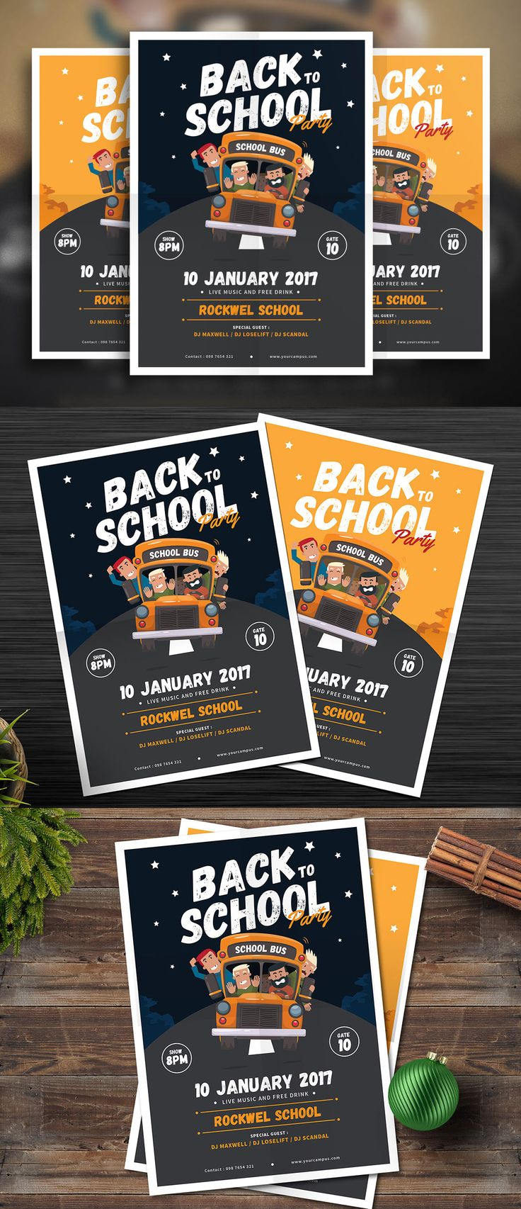 back to school flyer template ai psd