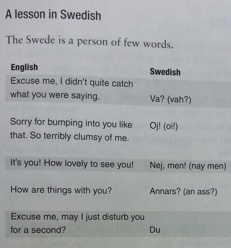 Swedish/Svenska :-D