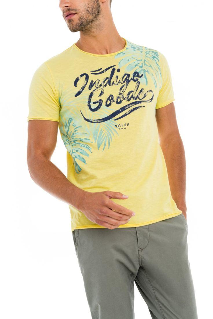 Camiseta de manga corta con estampado frontal - Salsa