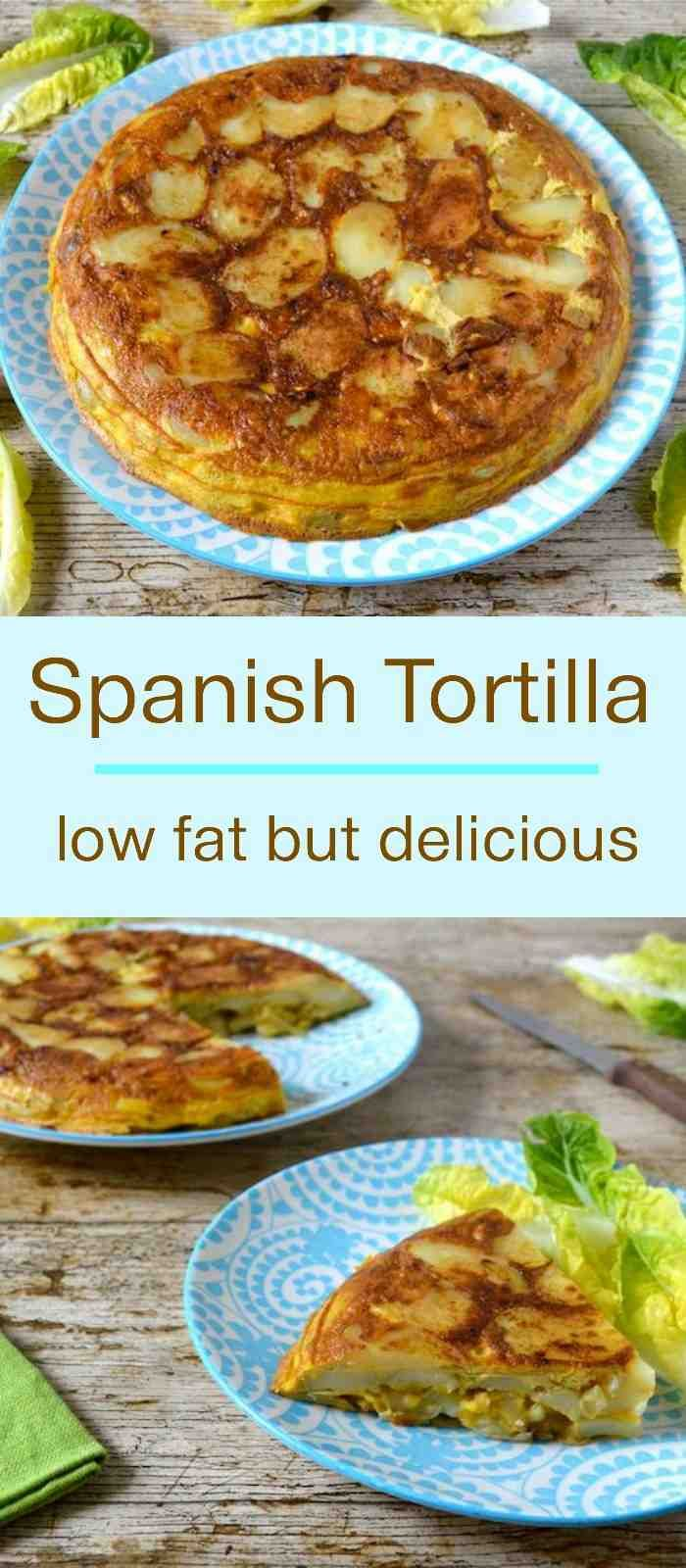 Easy Spanish Tortilla recipe. Delicious but with only half the fat.