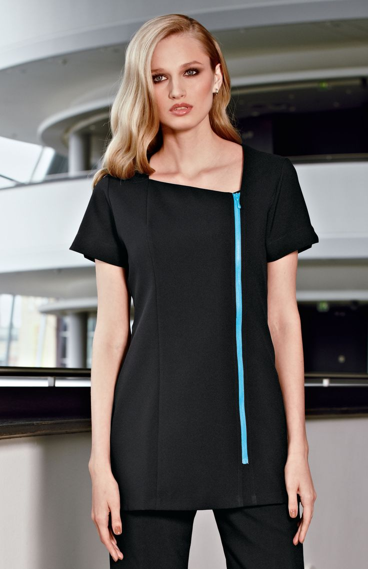 1000 images about work spa on pinterest skirt suit for Spa uniform tunic