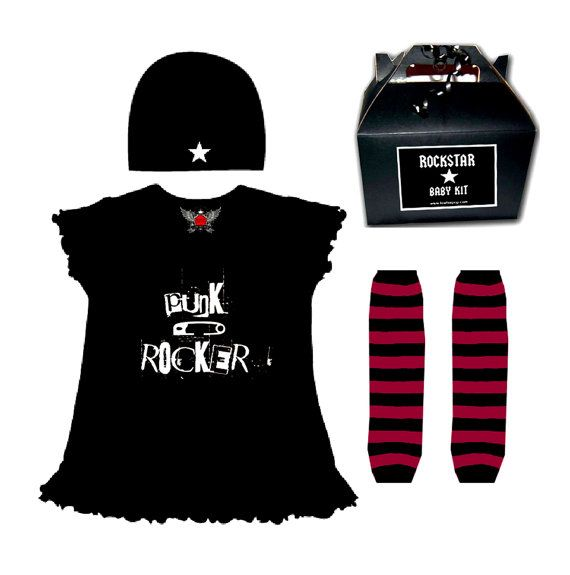 My Mom Rocks Mother's Day Punk Rock Baby or Toddler by lowleepop, $34.00