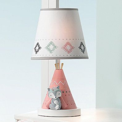 Girl Woodland Nursery Lamp