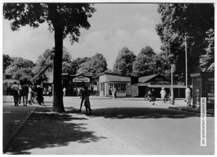 Am Bahnhof Eichwalde bei Berlin - 1964