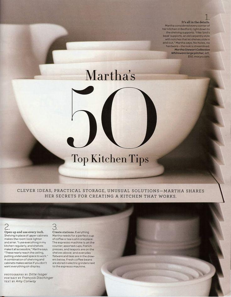 50 Top Kitchen Tips - Martha Stewart