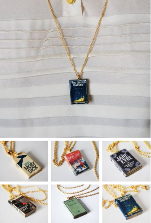 Book Necklaces ... how hard to choose!