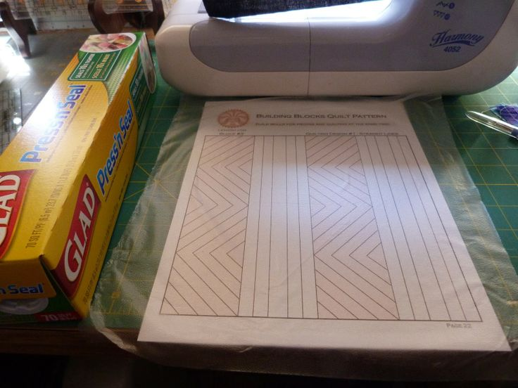 use Glad Press'n Seal for quilting design