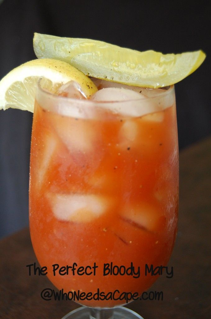 The Perfect Bloody Mary - This features no Tabasco, pickle juice and some sort of basil pepper vodka?
