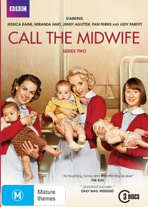 Call The Midwife - Series 2. The smash hit series based on the memoirs of Jennifer Worth. Back to 1950s East End London for more touching and compelling stories from the nurses and nuns of Nonnatus House. It's 1958 and the hard-working midwives of Nonnatus House continue to serve the crowded tenements and slums of Poplar. $29.99 Available 08/05/2013