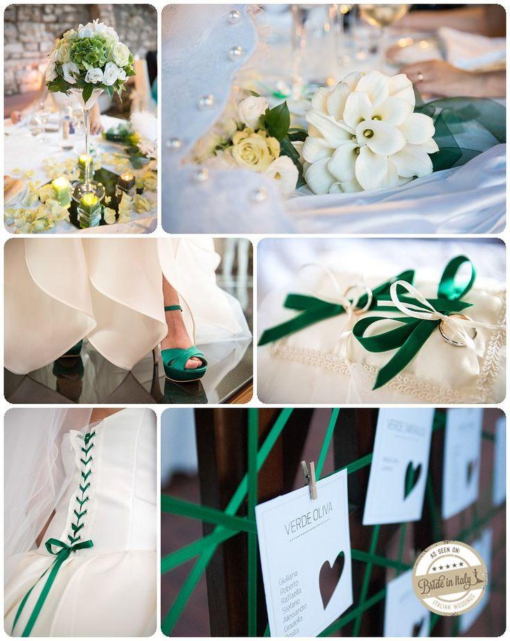 Green + White wedding theme,  ph Stefano P. Tonucci #italianstyle http://www.brideinitaly.com/2013/09/tonuccipelagallina.html