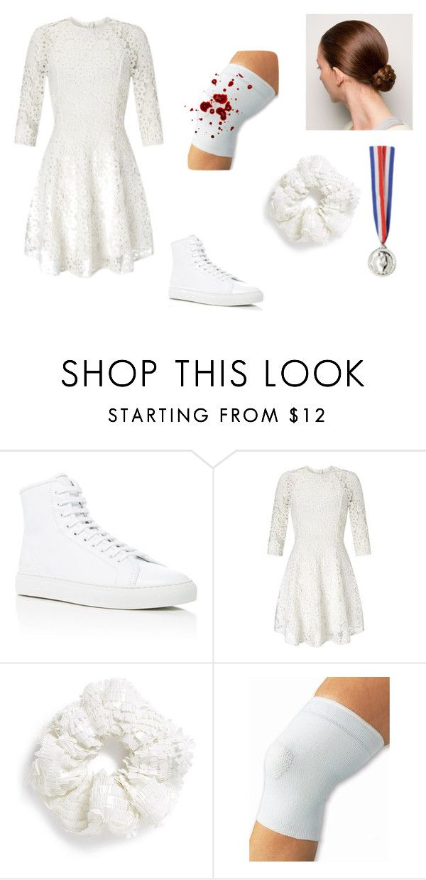 """""""Nancy Kerrigan Costume"""" by oliviaf14 ❤ liked on Polyvore featuring Common Projects, Lipsy and Topshop"""