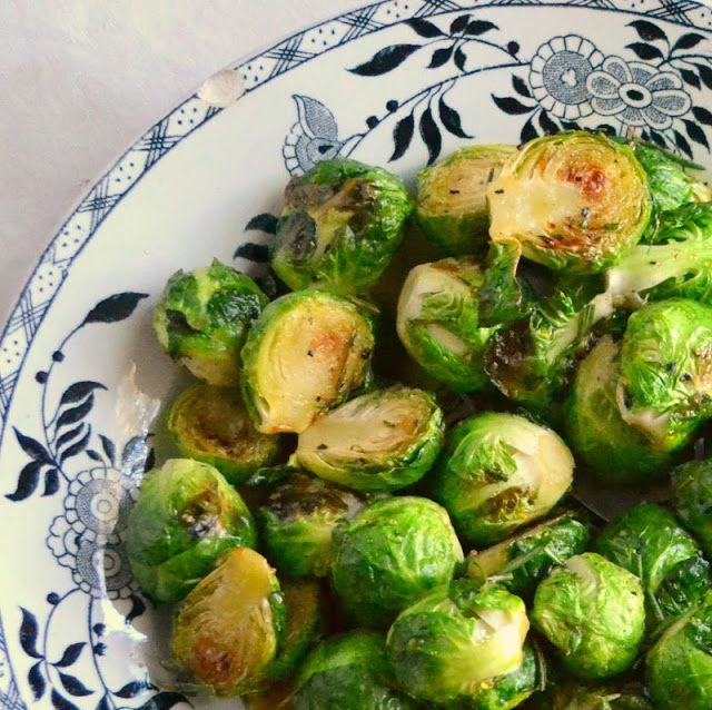 Roasted Cider Glazed Brussels Sprouts - The View from Great Island