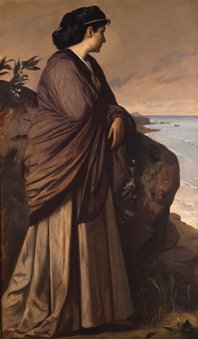 Anselm Feuerbach (1829-1880), Am Meer (Moderne Iphigenie), 1875, Öl auf Leinwand, 197 x 113,5 cm, Stiftung Museum Kunstpalast Düsseldorf