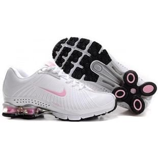 Discount Authentic Mens Nike Airmax 2009   Shox R4 Shoes Dark Grey/Pink